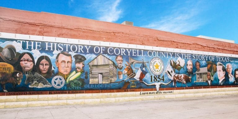 The Gatesville City Mural in Downtown